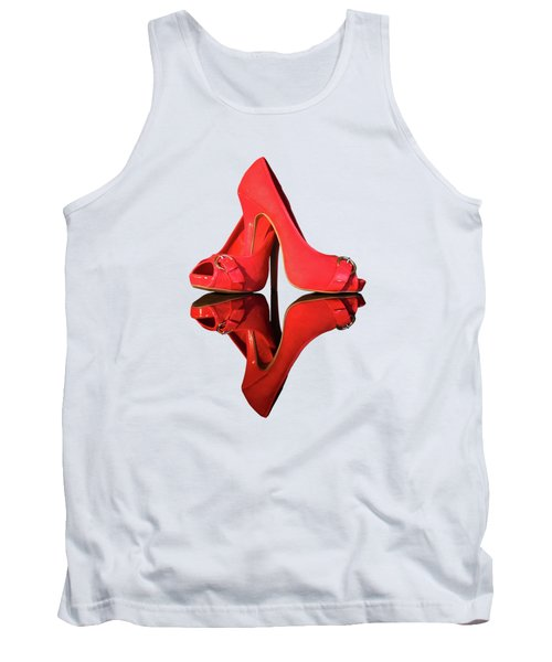 Red Stiletto Shoes On Transparent Background Tank Top