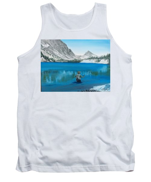 Tank Top featuring the painting Relaxing At Skelton by Kevin Daly