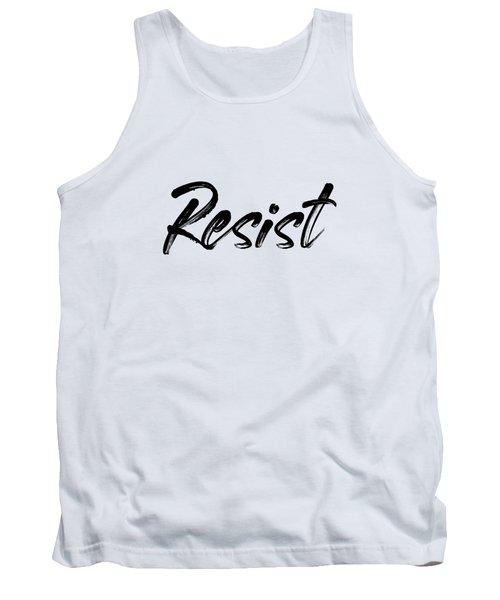 Resist - Black On White Tank Top