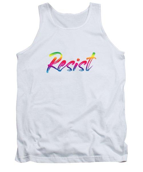Resist - Rainbow On White Tank Top