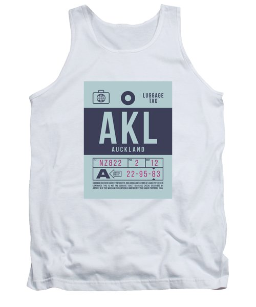 Retro Airline Luggage Tag 2.0 - Akl Auckland New Zealand Tank Top