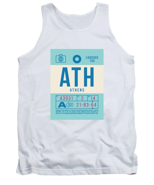 Retro Airline Luggage Tag 2.0 - Ath Athens Greece Tank Top