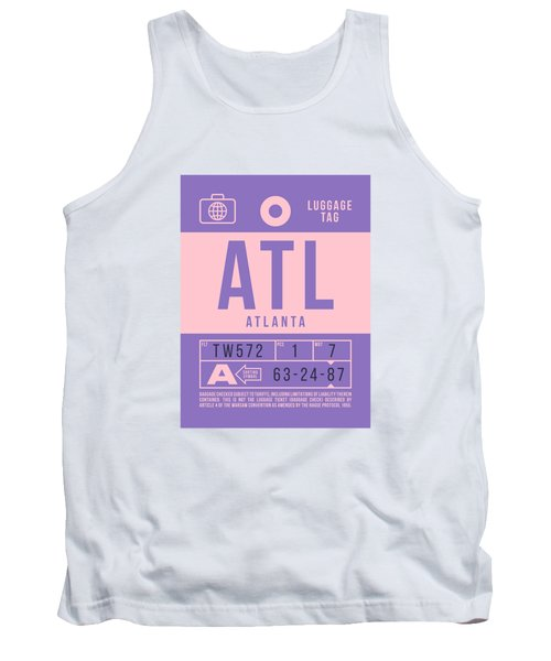 Retro Airline Luggage Tag 2.0 - Atl Atlanta United States Tank Top