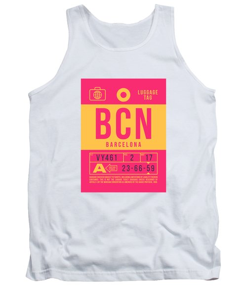 Retro Airline Luggage Tag 2.0 - Bcn Barcelona Spain Tank Top