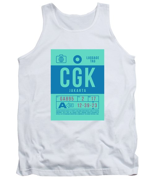 Retro Airline Luggage Tag 2.0 - Cgk Jakarta Indonesia Tank Top