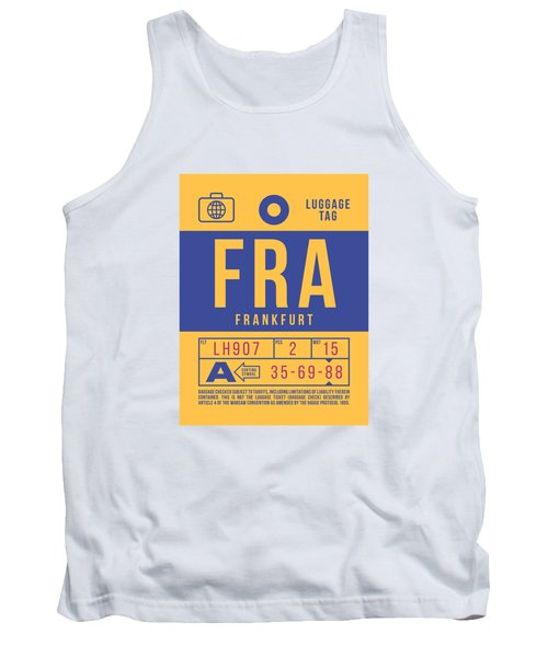 Retro Airline Luggage Tag 2.0 - Fra Frankfurt Germany Tank Top