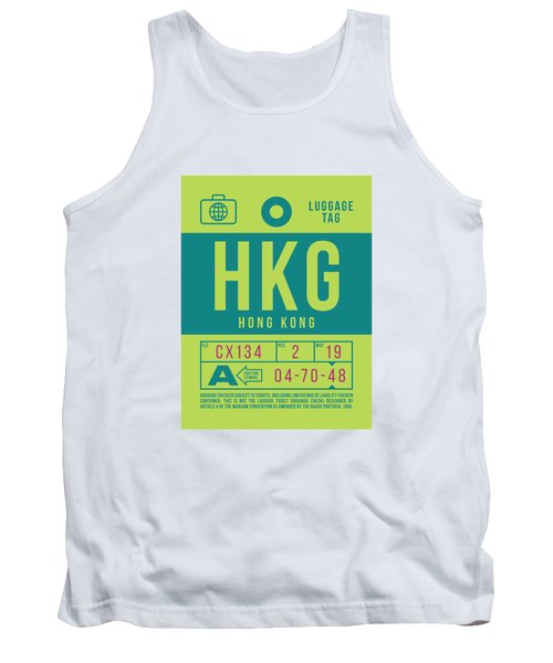 Retro Airline Luggage Tag 2.0 - Hkg Hong Kong Tank Top