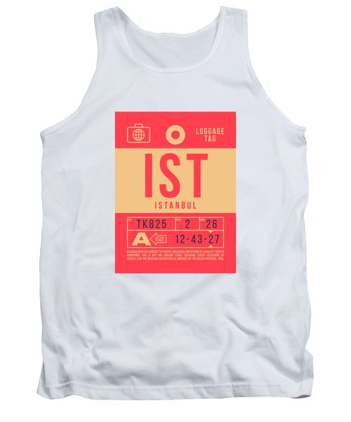 Retro Airline Luggage Tag 2.0 - Ist Istanbul Turkey Tank Top