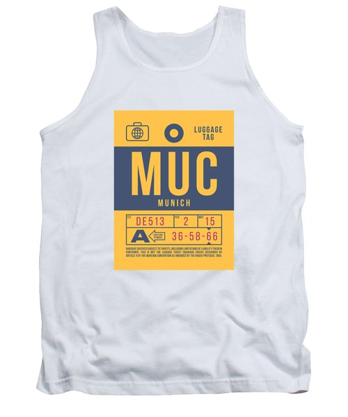 Retro Airline Luggage Tag 2.0 - Muc Munich International Airport Germany Tank Top