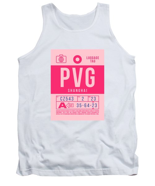 Retro Airline Luggage Tag 2.0 - Pvg Shanghai International Airport China Tank Top