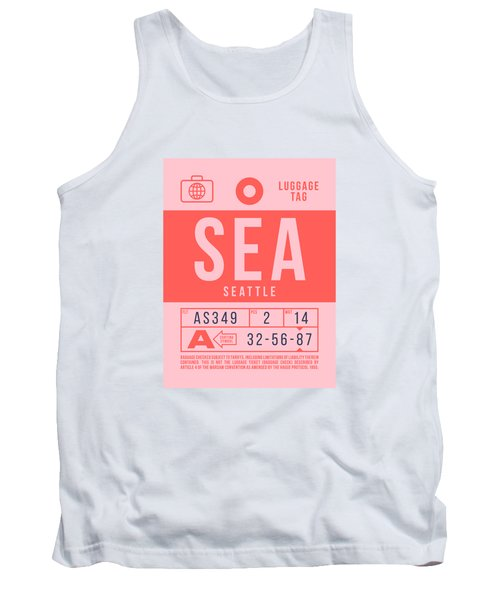 Retro Airline Luggage Tag 2.0 - Sea Seattle Tacoma Airport United States Tank Top