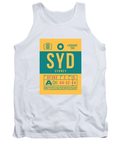 Retro Airline Luggage Tag 2.0 - Syd Sydney Kingsford Smith Airport Australia Tank Top