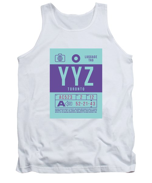 Retro Airline Luggage Tag 2.0 - Yyz Toronto International Airport Canada Tank Top