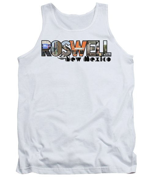 Roswell New Mexico Big Letter Travel Souvenir Tank Top