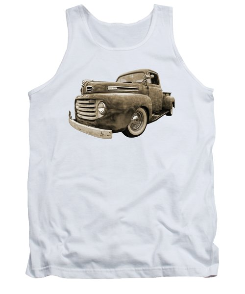 Rusty Jewel In Sepia - 1948 Ford Tank Top