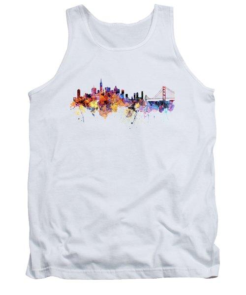 San Francisco Watercolor Skyline Tank Top