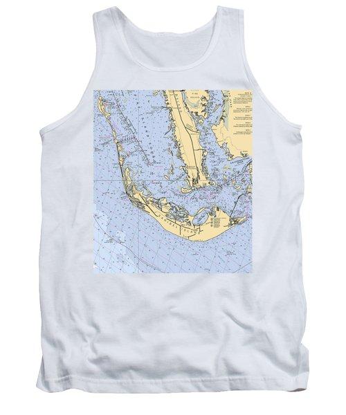 Sanibel And Captiva Islands Nautical Chart Tank Top