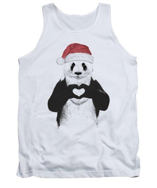 Santa Panda Tank Top