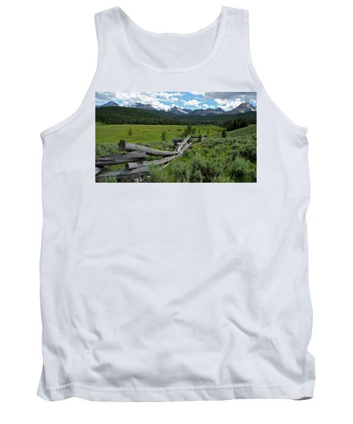 Sawtooth Range And 1975 Pole Fence Tank Top