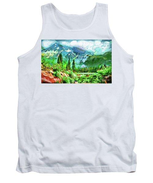 Scenic Mountain Lake Tank Top