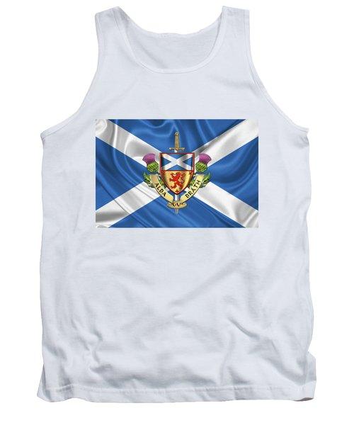 Scotland Forever - Alba Gu Brath - Symbols Of Scotland Over Flag Of Scotland Tank Top