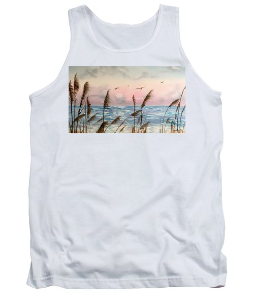 Sea Oats And Seagulls  Tank Top