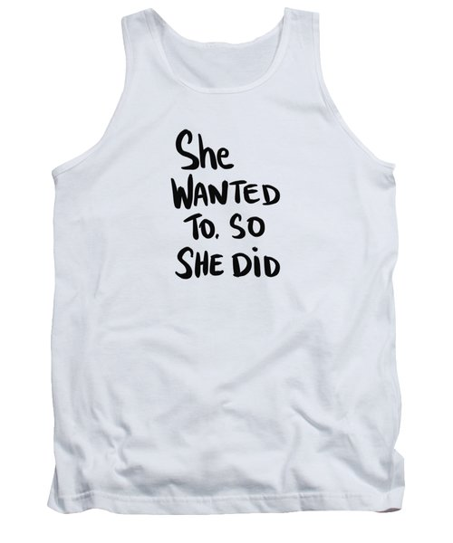 She Wanted To Bold- Art By Linda Woods Tank Top