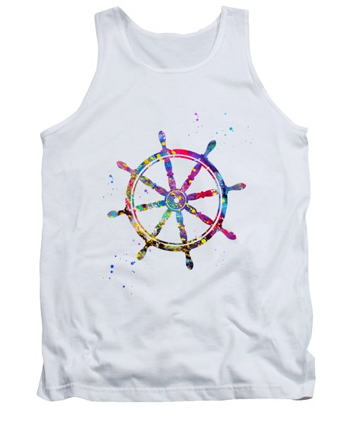 Ship's Wheel-colorful Tank Top