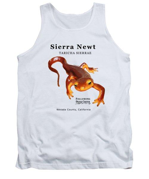 Sierra Newt - Black Text Tank Top