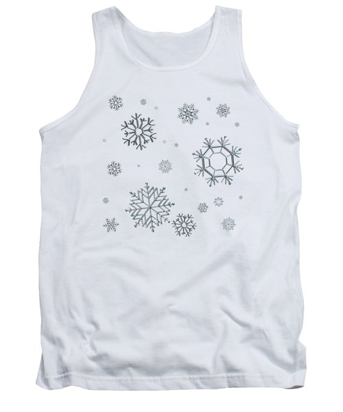 Snowflakes On Blue Tank Top
