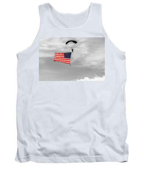Socom Flag Jump In Selective Color Tank Top