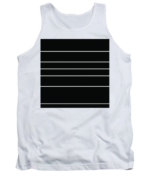 Stacked - Black And White Tank Top