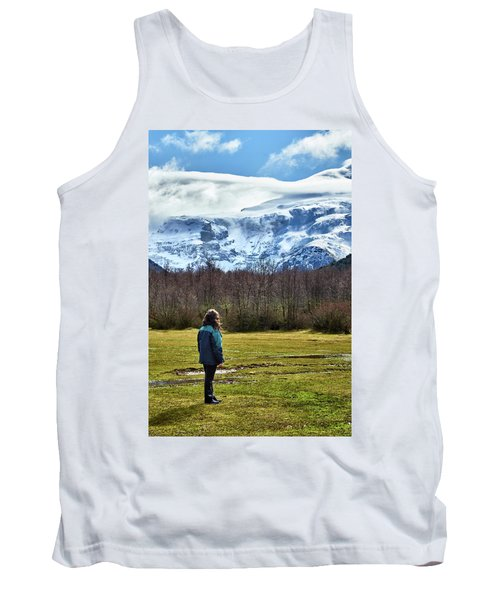 Tank Top featuring the photograph Standing Before The Tronador Hill by Eduardo Jose Accorinti