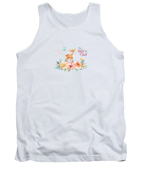 Stay Wild My Child With Deer Tank Top