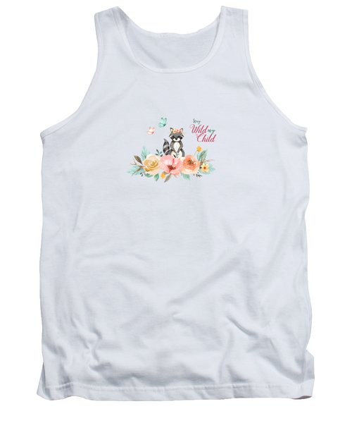 Stay Wild My Child With Raccoon Tank Top