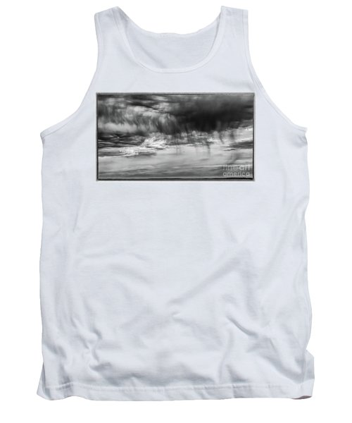Stormy Sky In Black And White Tank Top