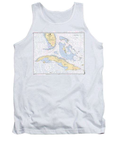 Straits Of Florida Nautical Chart Tank Top
