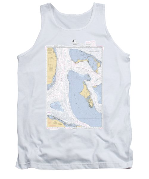 Straits Of Florids, Eastern Part Noaa Chart 4149 Edited. Tank Top