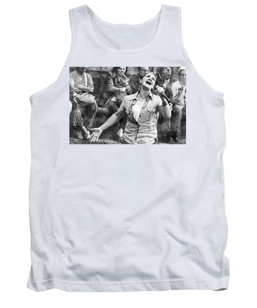 Tank Top featuring the digital art Street Singer In Florence by Eduardo Jose Accorinti