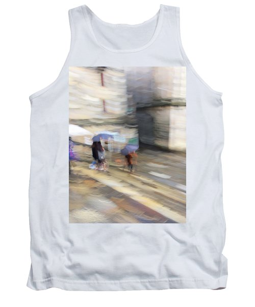 Tank Top featuring the photograph Sunshower On The Stairs by Alex Lapidus