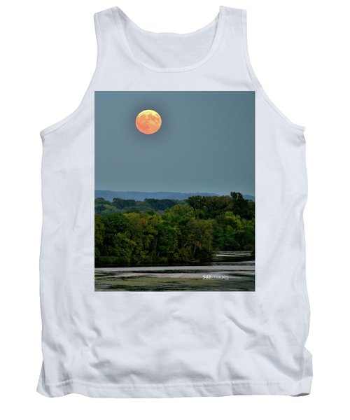 Supermoon On The Mississippi Tank Top