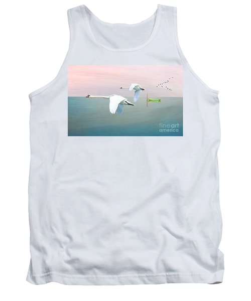 Swans At Sunrise Tank Top