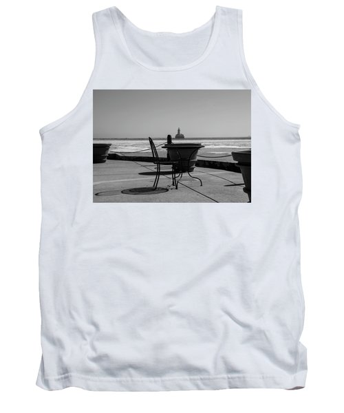 Table For One Bw Tank Top