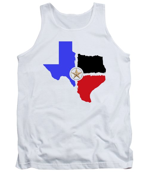 Texas Tri-color Map With Barbed Wire Lone Star - T-shirt Tank Top