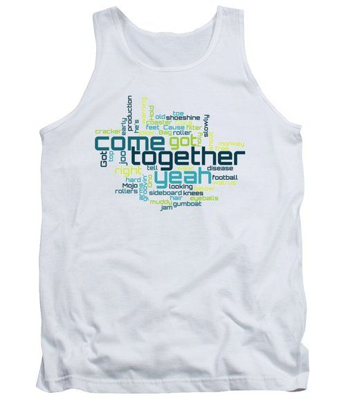 The Beatles - Come Together Lyrical Cloud Tank Top