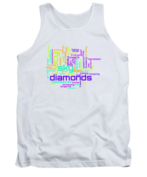 The Beatles - Lucy In The Sky With Diamonds Lyrical Cloud Tank Top