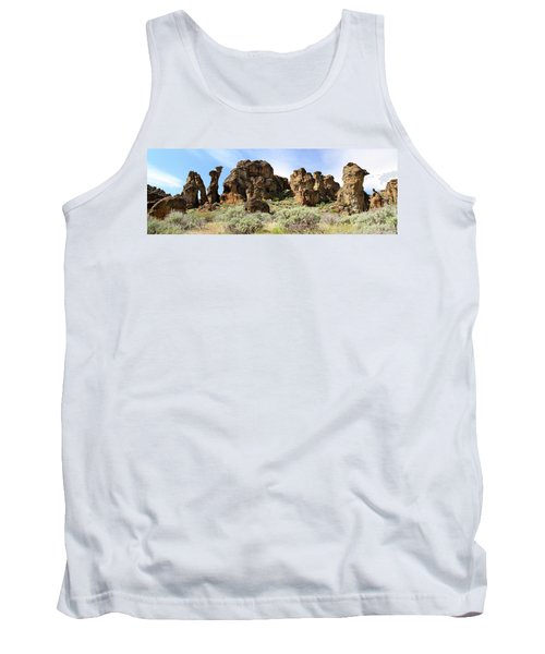 Arches Hoodoos And Castles The Big Picture Little City Of Rocks Tank Top
