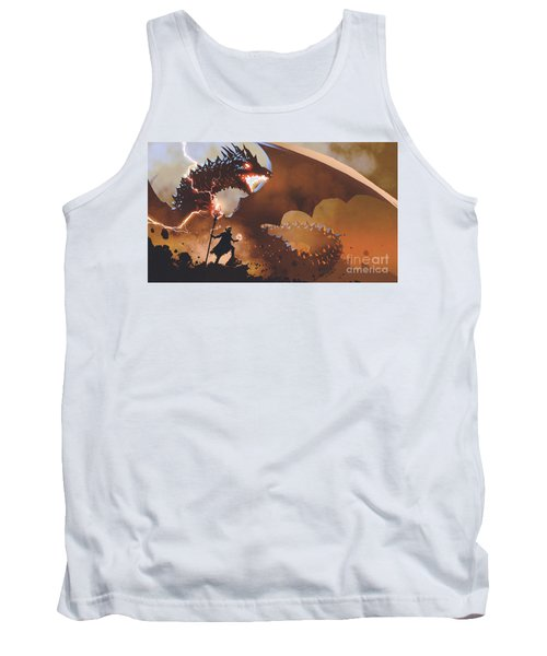 Tank Top featuring the painting The Dragon Wizard by Tithi Luadthong
