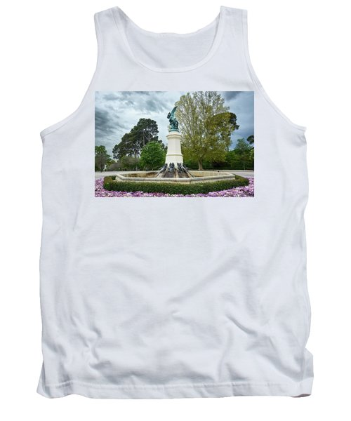 The Fountain Of The Fallen Angel In Madrid Tank Top