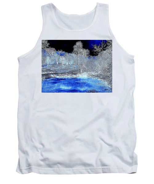 The  Pond In  Winter  -  Edit20-contest Tank Top